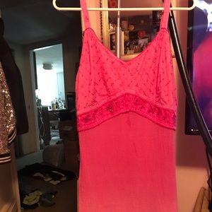 Dresses & Skirts - L Pink Embroidered Summer Dress